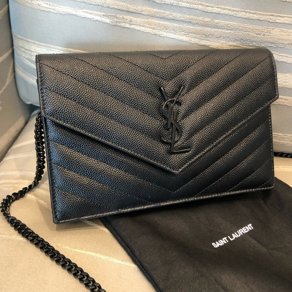 0dce328e SAINT LAURENT Monogram YSL Matelasse envelope bag